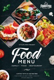 Food Menu PSD Flyer Template