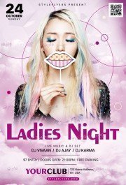 Ladies Night PSD Flyer Template