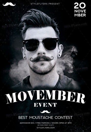 Movember Event PSD Flyer Template