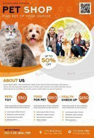Pet Shop PSD Flyer Template