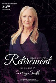 Retirement PSD Flyer Template
