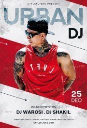 Urban Dj PSD Flyer Template
