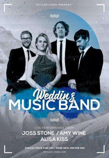 Wedding Music Band Psd Flyer Template   Styleflyers