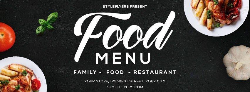 facebook_food menu_psd_flyer