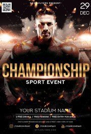 Championship PSD Flyer Template