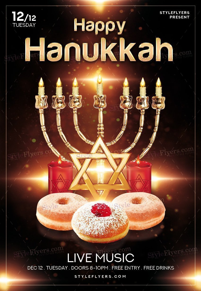 Hanukkah PSD Flyer Template