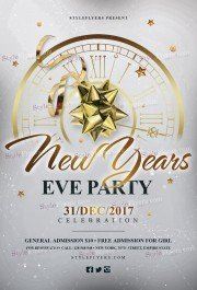 New Year's Eve Party PSD Flyer Template