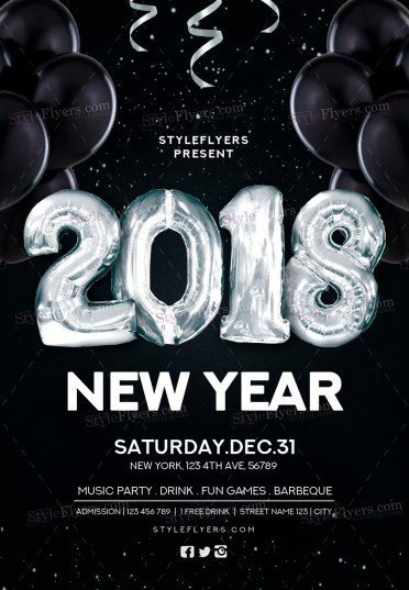 New Year  Psd Flyer Template   Styleflyers