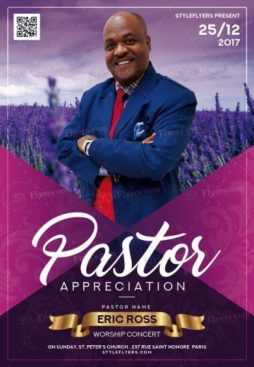 Pastor Appreciation PSD Flyer Template