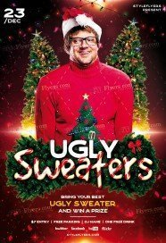 Ugly Sweaters PSD Flyer Template