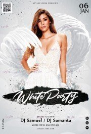 White Party PSD Flyer Template