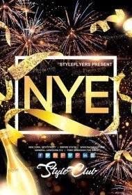 new year free psd flyer template