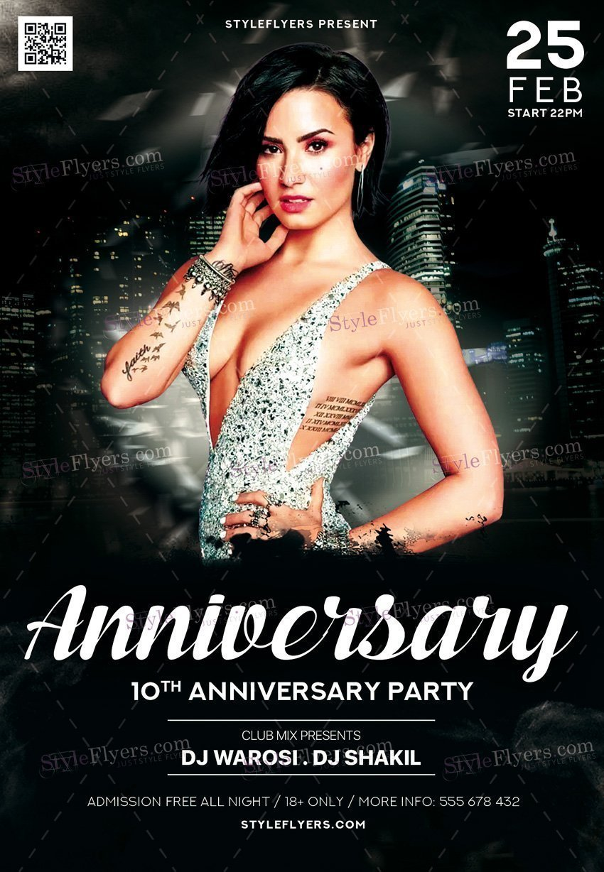 Anniversary Flyers PSD Templates, Facebook Covers - Styleflyers