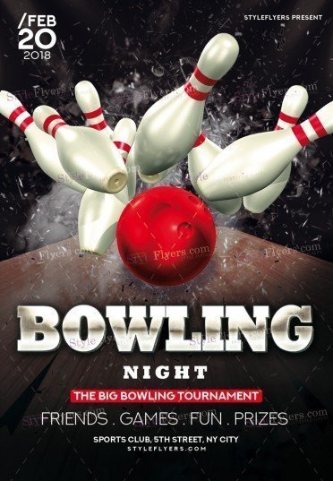Bowling Psd Flyer Template   Styleflyers