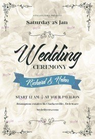 Wedding Сeremony PSD Flyer Template