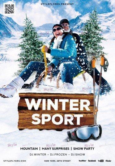 Winter-sport_psd_flyer
