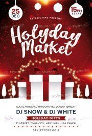 holyday-market_psd_flyer