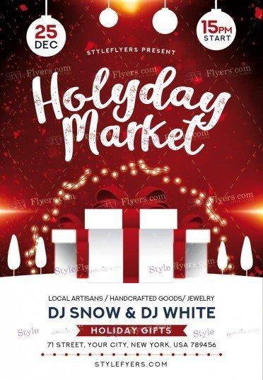 holyday-market_psd_flyer
