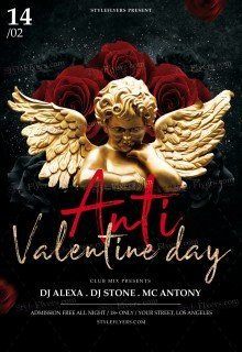 Anti Valentine Day PSD Flyer Template