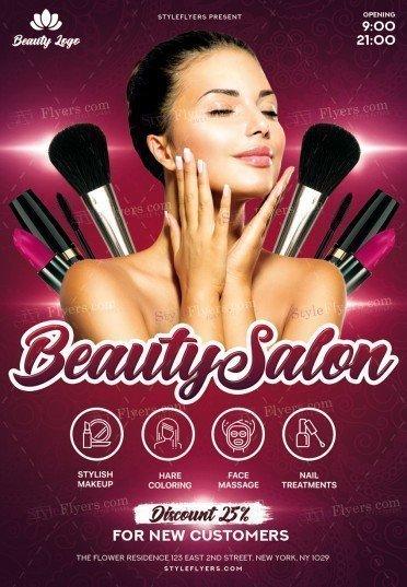 Beauty Salon Psd Flyer Template 22779 Styleflyers