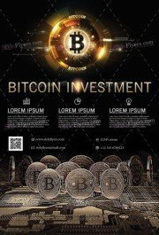 Bitcoin Investment PSD Flyer Template