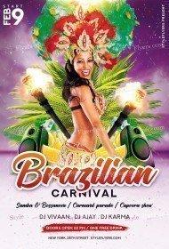 Brazilian Carnival PSD Flyer Template