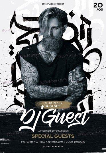 DJ Guest PSD Flyer Template