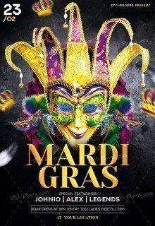 Mardi Gras PSD Flyer Template