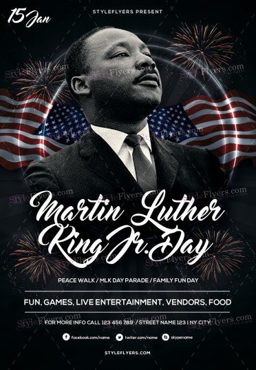 Martin Luther King PSD Flyer Template