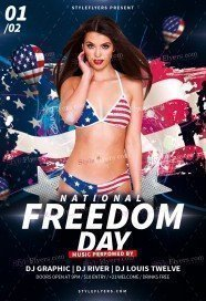 National Freedom Day PSD Flyer Template