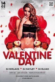 Valentine Day PSD Flyer Template