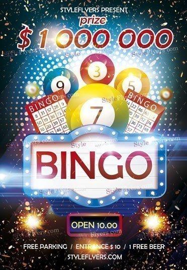 Bingo Psd Flyer Template 23003 Styleflyers