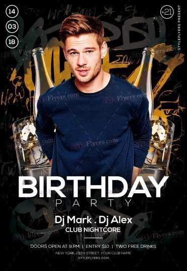 Birthday PSD Flyer Template