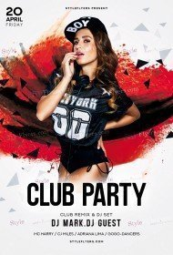 Club PSD Flyer Template