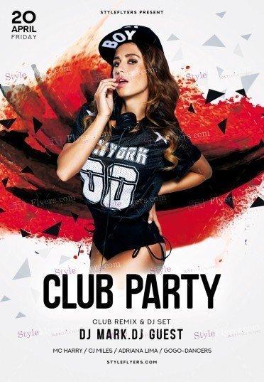 Club PSD Flyer Template