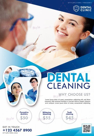 Dental Cleaning Psd Flyer Template 22982 Styleflyers