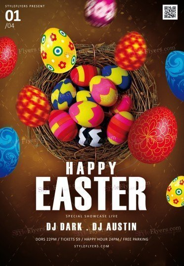 Happy Easter Psd Flyer Template   Styleflyers