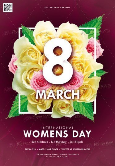 International Women Day PSD Flyer Template