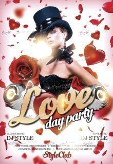 Love Day Party PSD Flyer Template