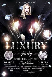 Luxury Party PSD Flyer Template