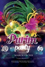 Purim PSD Flyer Template