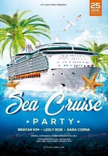 Sea Cruise Party PSD Flyer Template