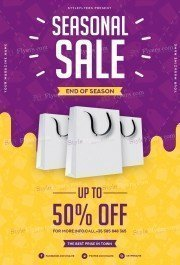 Seasonal Sale PSD Flyer Template