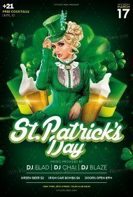 St. Patrick's Day PSD Flyer Template