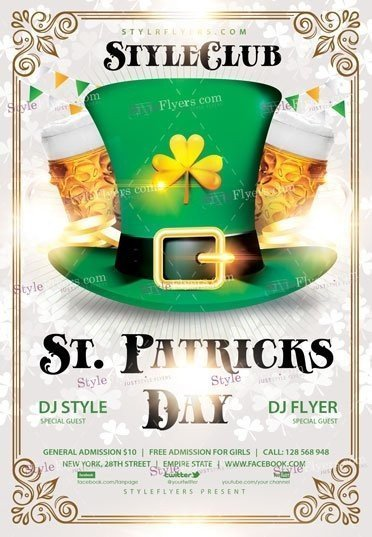 St. Patricks Day PSD Flyer Template
