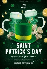 St.Patrick's Day PSD Flyer Template