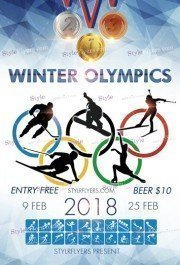 Winter Olympics 2018 PSD Flyer Template