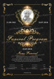 Free funeral Flyer PSD Templates Download - Styleflyers