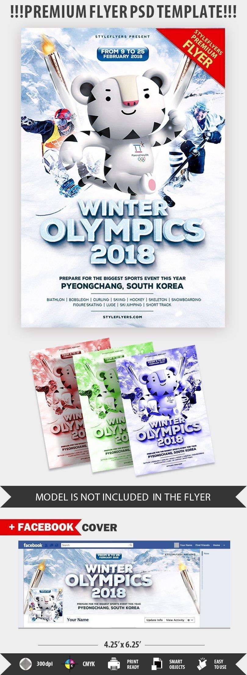 winter olympics 2018 psd flyer template  22865