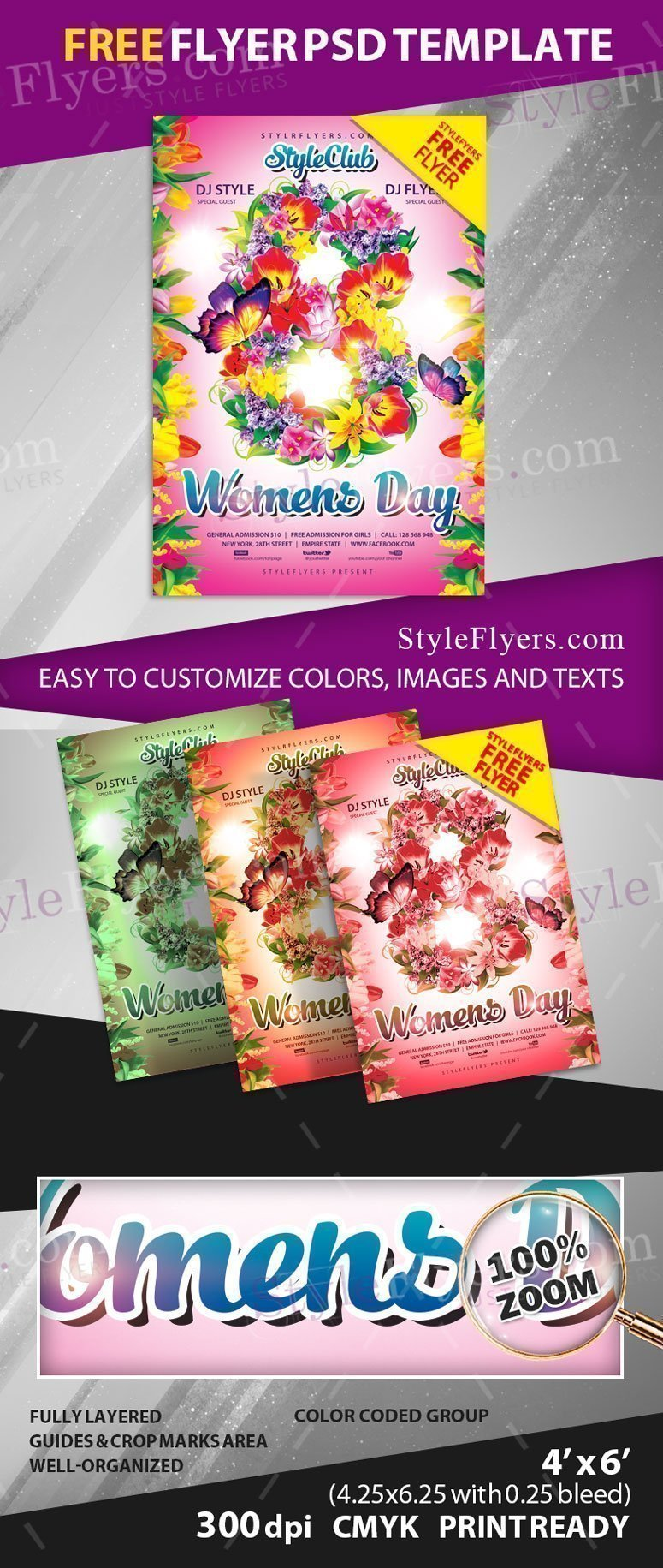 Womens Day Flyer FREE PSD Flyer Template Free Download #23156 - Styleflyers